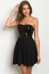 S6-10-2-D1089 BLACK WITH SEQUINS DESS 2-3-1  ***WARNING: California Proposition 65***