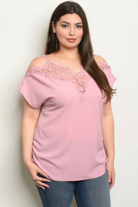 S60-B-4-T0881X MAUVE PLUS SIZE TOP 2-2-2