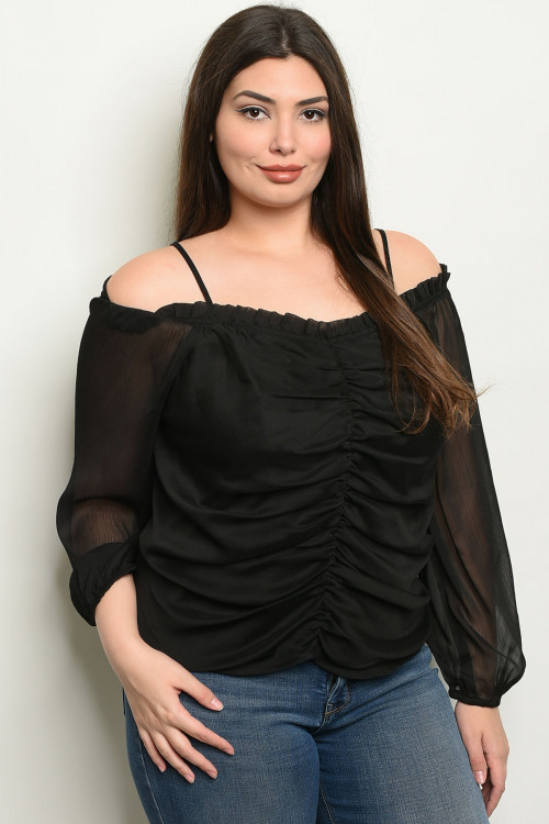 SA4-00-4-T10089X BLACK PLUS SIZE TOP 2-2-2