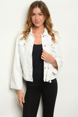 S9-1-1-J0007 WHITE DENIM JACKET 2-2-2