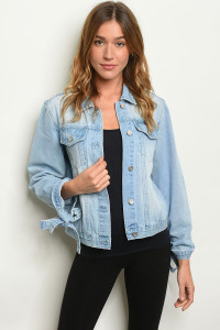 S17-3-3-J0007 LIGHT BLUE DENIM JACKET 1-1-1