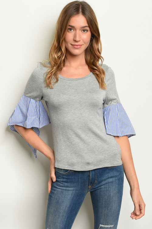 C25-B-1-T1112 GRAY BLUE TOP 2-3-1