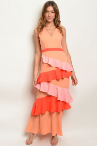 S7-2-4-D8022319 ORANGE MULTI DRESS 2-2-2