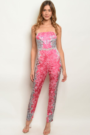 S25-7-1-J30942 FUCHSIA WITH STONES JUMPSUIT 3-2-2