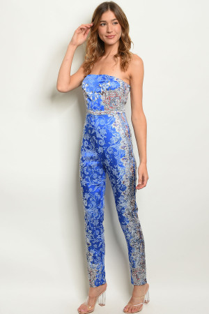S9-2-2-J30942 ROYAL WITH STONES JUMPSUIT 2-2-2  ***WARNING: California Proposition 65***