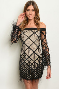 S10-1-3-D20649 BLACK NUDE DRESS 2-2-2