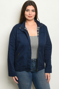 SA4-0-1-J8782X NAVY PLUS SIZE JACKET 2-2-2