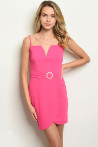 C46-A-4-D2033 FUCHSIA DRESS 2-2-2