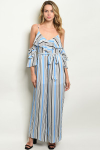 S10-6-2-NA-J19984 BLUE STRIPES JUMPSUIT 2-2-2