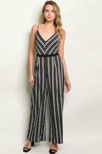 S10-5-2-NA-J19861 BLACK STRIPES JUMPSUIT 2-2-2