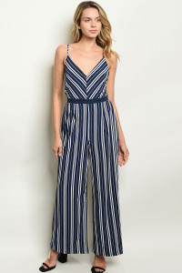 S10-5-2-NA-J19861 NAVY STRIPES JUMPSUIT 2-2-2