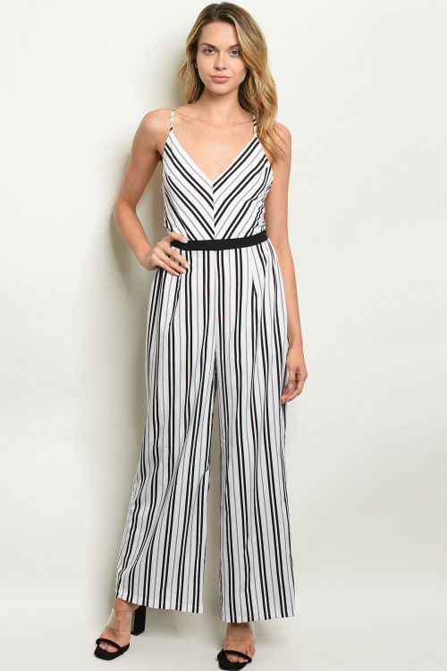 S9-4-1-J19861 WHITE STRIPES JUMPSUIT 2-2-2