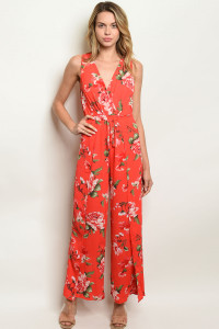 S10-3-1-NA-J19107 RED FLORAL JUMPSUIT 2-2-2