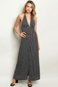 S9-4-3-NA-D19788 BLACK STRIPES DRESS 2-2-2