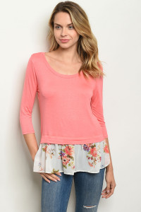 C41-B-3-T10870 CORAL TOP 2-2-2