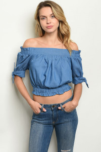 S9-6-1-NA-T19934 DENIM BLUE TOP 2-2-2