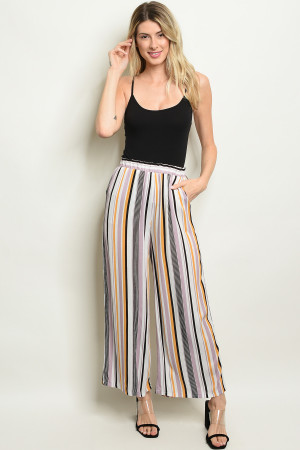 C28-A-3-P2524 BLUSH MUSTARD STRIPES PANTS 2-2-2