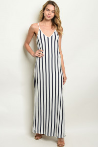 S9-6-2-NA-D19847 WHITE NAVY STRIPES DRESS 2-2-2