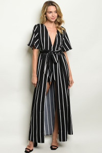 S9-10-1-NA-J20218 BLACK STRIPES JUMPSUIT 2-2-2