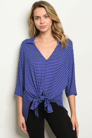 C18-B-1-T12158 ROYAL STRIPES TOP 2-1-1