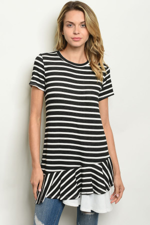 C8-A-1-D12138 BLACK STRIPES TOP 1-2-2