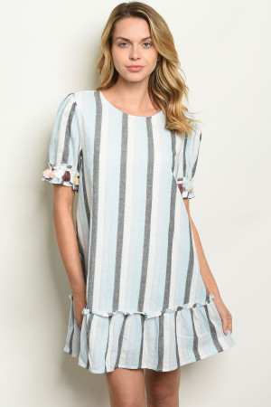 S14-12-3-D42832 BLUE STRIPES DRESS 2-1-1