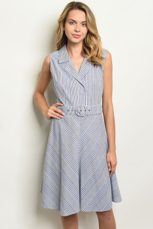 S10-7-2-D30649 BLUE WHITE DRESS 2-2-2