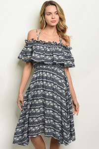S9-8-3-D42824 NAVY OFF WHITE DRESS 2-2-2