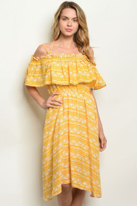 S9-8-3-D42824 YELLOW OFF WHITE DRESS 2-2-2