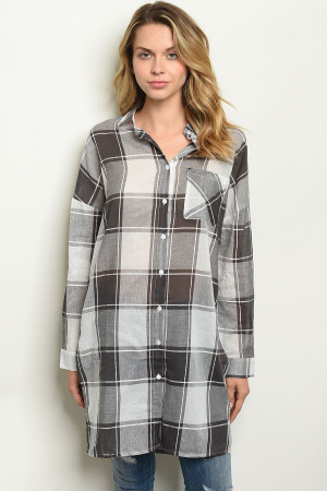 S14-10-2-T24520 BLACK CHECKERS TOP 2-2-2