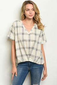 S18-7-5-T14094 IVORY CHECKERS TOP 2-2-2