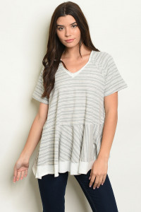S17-5-5-T14105 GREY STRIPES TOP 1-1-1