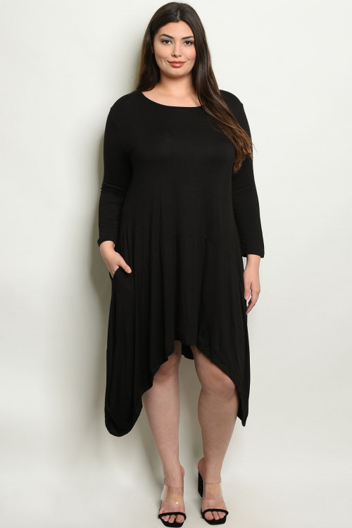 S14-8-2-D5259X BLACK PLUS SIZE DRESS 3-3