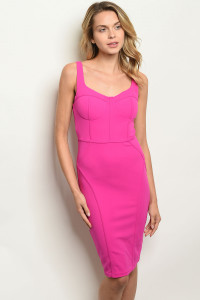 S14-2-3-D6650 FUCHSIA DRESS 1-2-1