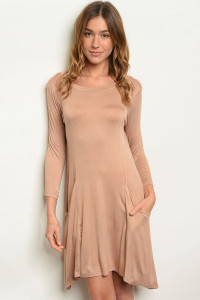 S10-7-5-D5319 TAUPE DRESS 2-2-2