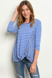 S10-7-5-T1235 ROYAL STRIPES TOP 2-2-2