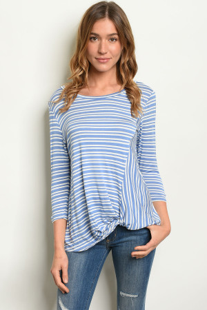 S14-10-3-T1235 BLUE STRIPES TOP 2-1