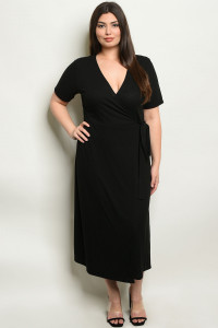 S9-11-3-NA-D19826X BLACK PLUS SIZE DRESS 2-2-2