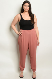 S14-12-4-NA-P19094X MAUVE PLUS SIZE PANTS 2-2-2
