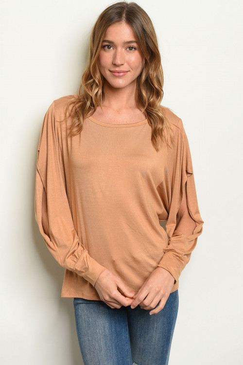 S15-10-1-T1349 TAUPE TOP 2-2-2
