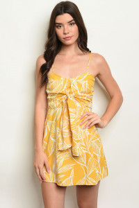 S10-9-5-D19G423 YELLOW W/ PRINT DRESS 2-2-2