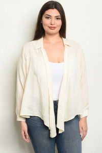 S9-12-2-NA-T19967X CREAM PLUS SIZE TOP 2-2-2