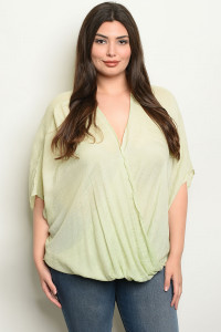 S10-16-3-NA-T19285X SAGE PLUS SIZE TOP 2-2-2