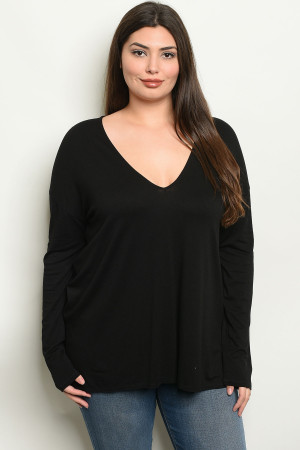 S9-13-1-T17090X BLACK PLUS SIZE TOP 2-2