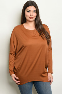 S11-10-5-T19090X CAMEL PLUS SIZE TOP 2-2-2