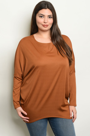 S18-8-3-NA-T19090X CAMEL PLUS SIZE TOP 2-2