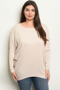 S11-10-5-T19090X SAND PLUS SIZE TOP 2-2-2