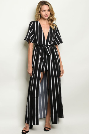 S15-12-3-NA-J20218 BLACK STRIPES JUMPSUIT 1-1