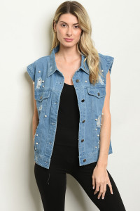 S6-9-1-V90866 BLUE DENIM VEST 2-2-2