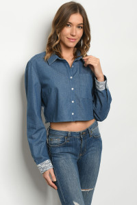 S14-6-2-T53653 BLUE DENIM TOP 2-2-2